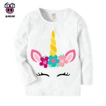 Girl Baby unicorn face Cartoon Printed Long Sleeve T Shirt Boys Girls Autumn Cas