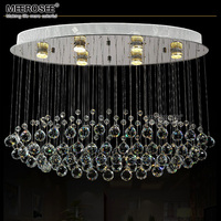 Top K9 Crystal Chandelier Modern Luxurious Clear Crystal Lighting Fixture GU10flush Mounted Lamp For Hotel Project