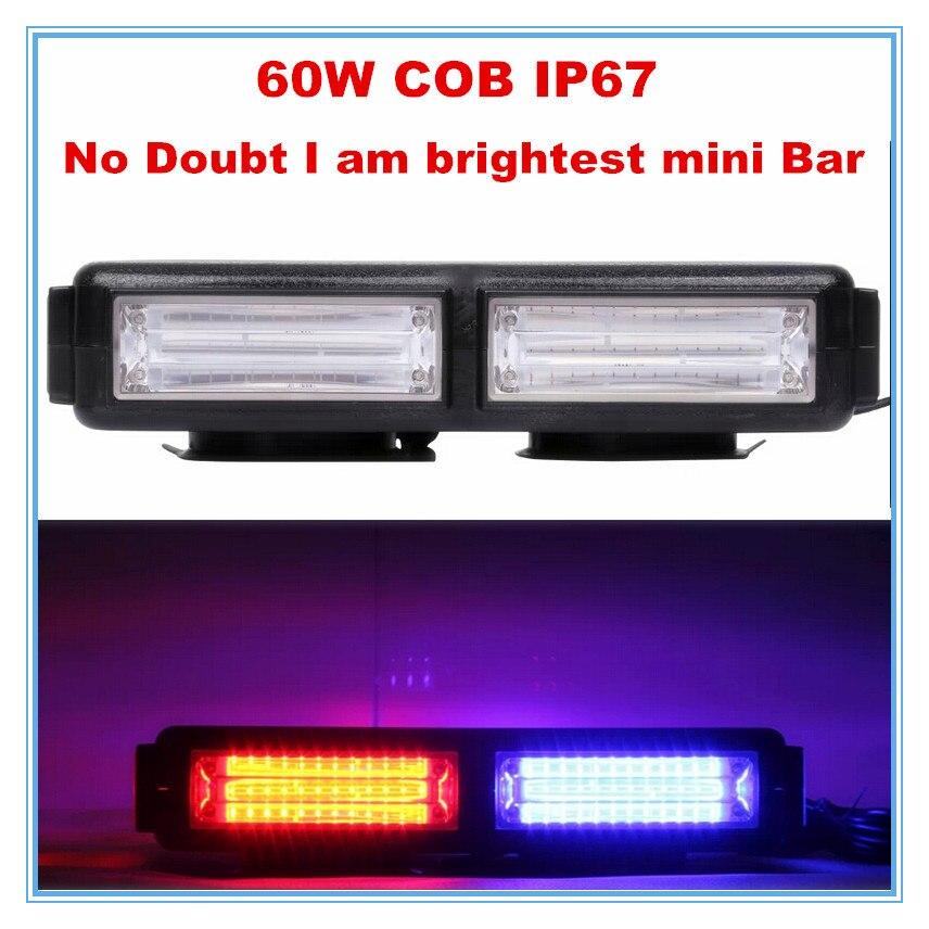 Police Led Lights >> strobe warning COB LED mini light bar for tailer truck ...