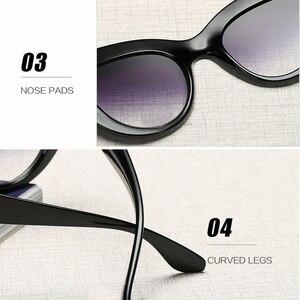 Image 5 - Gafas de sol de ojo de gato Vintage de 2019 para mujer gafas de sol redondas grandes para damas espejo Cateye gafas de mujer de marca de diseñador