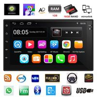 2 Din автомобильный радиоприемник gps навигация Android 6,0 сенсорный экран автомобильный аудио плеер четырехъядерный автомобильный Радио USB Bluetooth