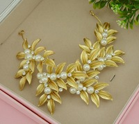Gold Tiara Noiva Pearl Jewelry Wedding Headband Baroque Hair Jewelry Bridal Hair Accessories Ornaments Crown Cheveux