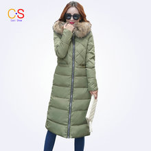 Fashion Women Coat With Grid Ladies Hooded Jacket Large Fur Collar Long Female Outfits Trench Coat Outerwears