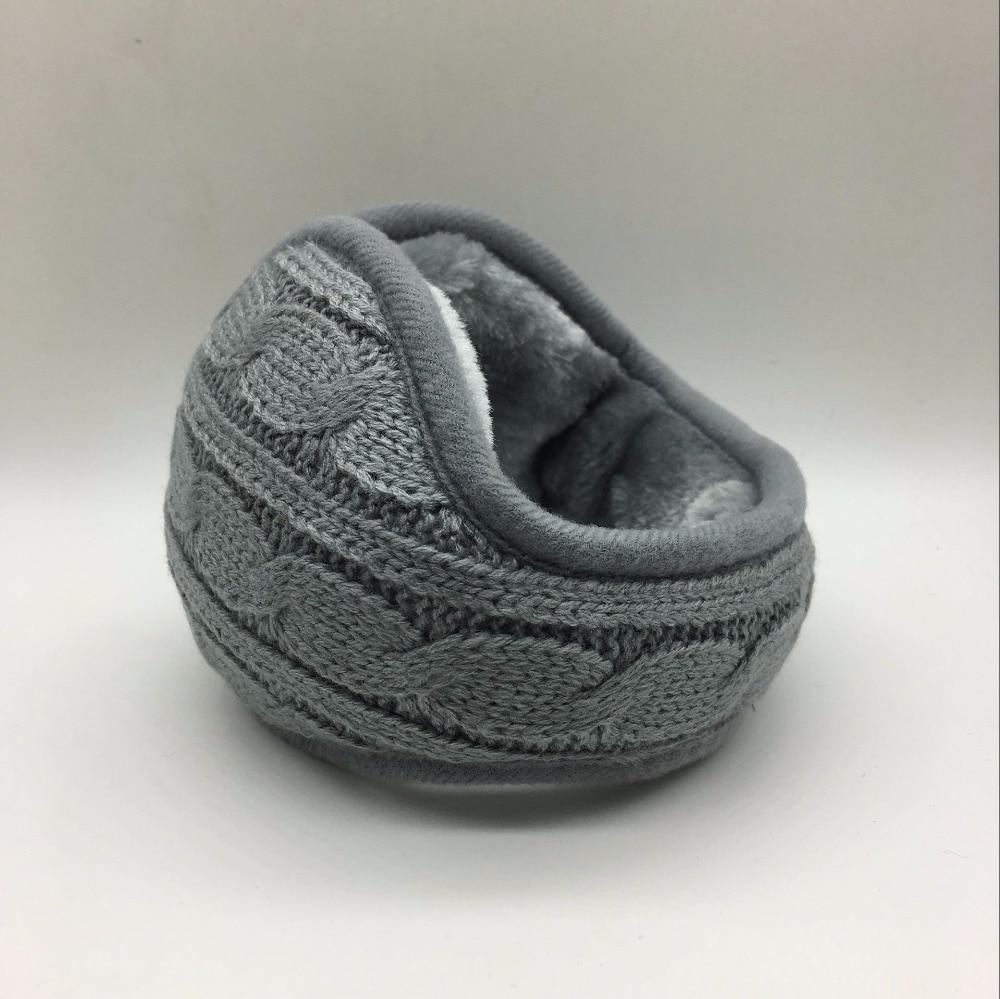 Zimski topli pleteni ušesni čep, zložljiv zložljiv uhan