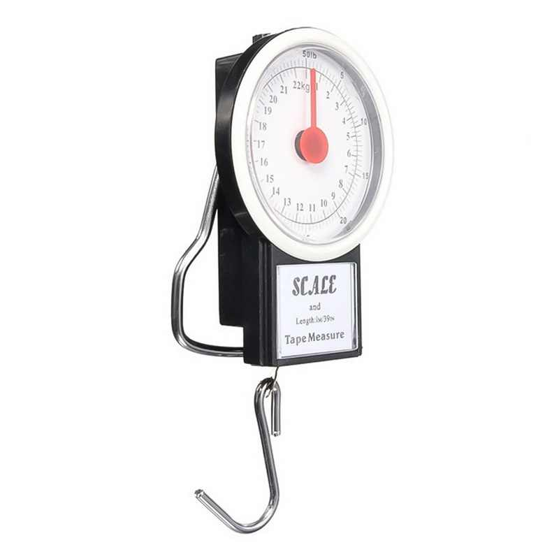 Junejour 22 kg poche bagages cadran échelle Portable Mini sac poids Blance bagages valise voyage balances ruban à mesurer crochet balance
