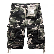 Männer 100% Baumwolle camouflage Cargo-Shorts Neue mode Männlichen mehrfach Casual Armee Grün Werkzeugausstattungkurzschlüsse Keine gürtel