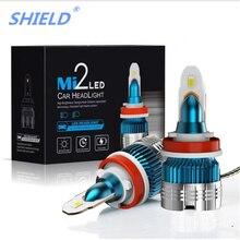 2 предмета новые H7 светодиодный фар H4 светодиодный мини-лампочки Canbus H1 H3 H8 H9 H11 9005 HB3 9006 HB4 12V 6000LM 6000 К авто фары