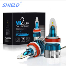 2 Pcs Newest H7 LED Headlight H4 LED Mini Bulbs Canbus H1 H3 H8 H9 H11 9005 HB3 9006 HB4 12V 6000LM 6000k Auto Headlamps new arrival easter baby girls long sleeve cotton floral ruffle boutique romper tutu pink clothes bunny kids wear match bow kids