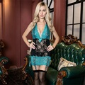 Nova Lingerie Sexy Vestido de Terno Erótico Sexy Meias Roupa Interior Tentação Produto Do Sexo Das Mulheres de Renda Floral Transparente Estilo Verão
