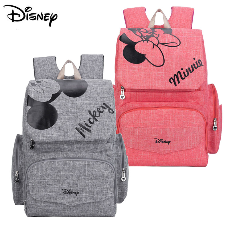 Disney Mummy Maternity Diaper Bags Backpack Multi-function Diaper Backpack Nappay Baby Bag With Stoller Straps For Baby Care