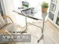 Moderne mode, höhenverstellbar, weiß laptop schreibtisch, mit rädern und lagerung schicht, heben computertisch