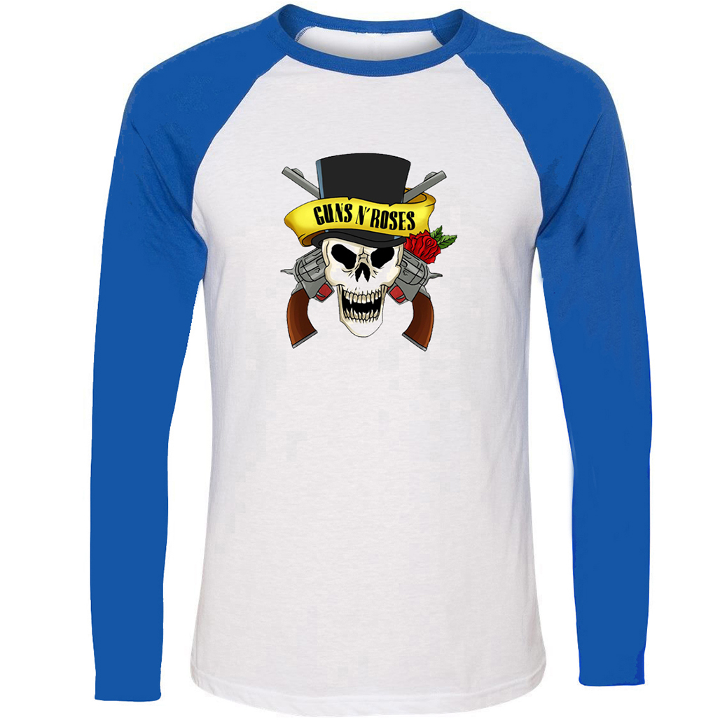 Guns N Roses rock band Design T-Shirt Mens Boys Long Sleeve Graphic Tee Tops Family Vacation Fans Party Cosplay Tshirts