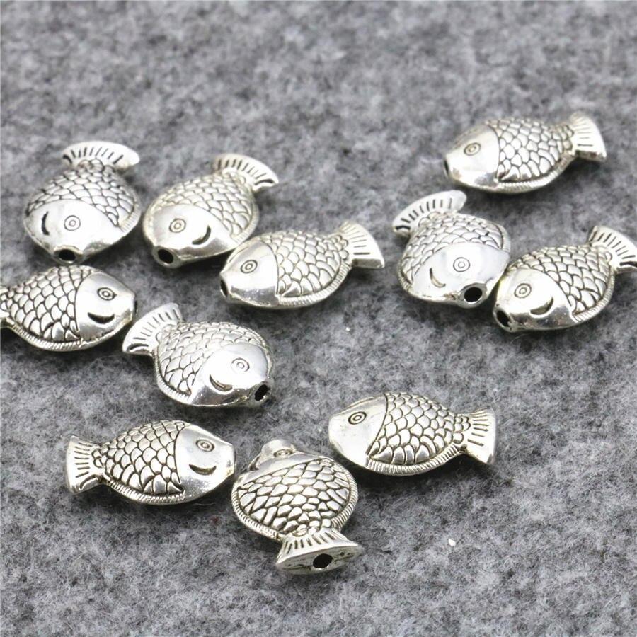 Nwq 50 UNIDS Accesorios de Cobre de Metal Lucky Fish DIY Loose Mujeres Niñas Reg