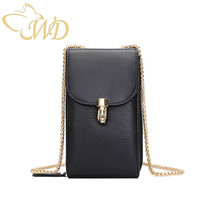 WDbag Phone Bag Case 2019 Chain Genuine Leather Women Wallet Phone Bag Case With Metal Lock Decoration Women Shoulder Bag