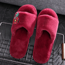 2018 New Winter Autumn Indoor House Women Slippers Classics Crystal Flats Shoes With Fur