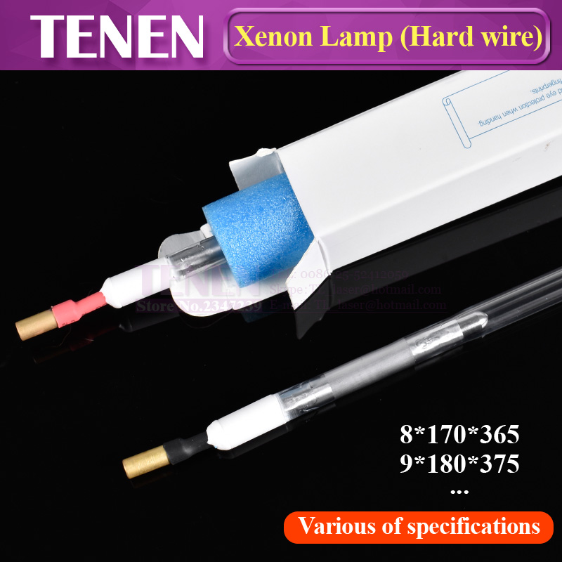 Laser Xenon Lamp With Hard Wire Xe 8x170x365 Ceramic Seal Tube Q switch Nd Flash Pulsed
