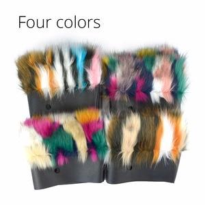 Image 4 - Tanqu 2018 새로운 혼합 된 색상 여성 가방 봉 제 트림 O 가방에 대 한 열 봉 제 장식 가짜 모피 클래식 큰 미니 obag에 적합