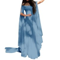 Women Retro Medieval Cosplay Vintage Party Club Elegant Dress Long Maxi Dress