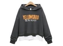 Women Warm Hoodie Sweatshirt Ladies Hooded Printed Letters Coat Loose Pullover Tops