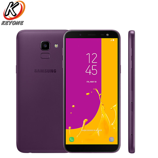 "New original Samsung Galaxy J6 D/S J600GD 4G LTE Mobile Phone 5.6"" 4GB RAM 64GB ROM Dual SIM 3000mAh Fingerprint Android Phone"