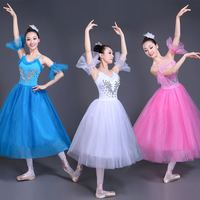 White Swan Lake Ballet Stage wear Costumes Adult Romantic Platter Ballet Dress Girls Women Classical Ballet Tutu Dance wear Suit