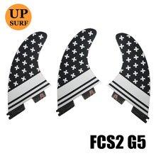 FCS2 Basic Tri-set Fin Honeycomb fcs ii Surfboard M Size FCSII Fins