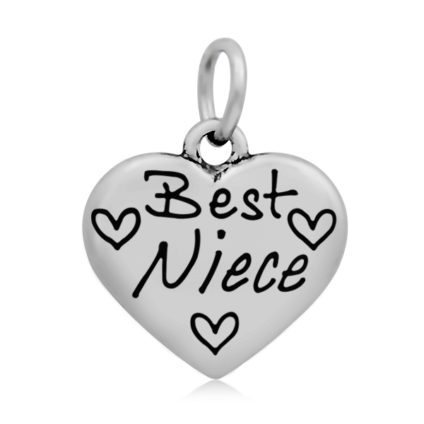Lemegeton Message Charm Best Niece/Just Married/Special Wife/Aunt Heart Charms family Jewelry Pendant for Necklaces Bracelet