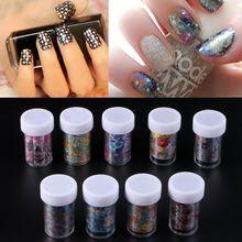 1set Holographic Nail Foil Colorful Flower Manicure Nail Art Transfer Sticker 9 Rolls 4x100cm