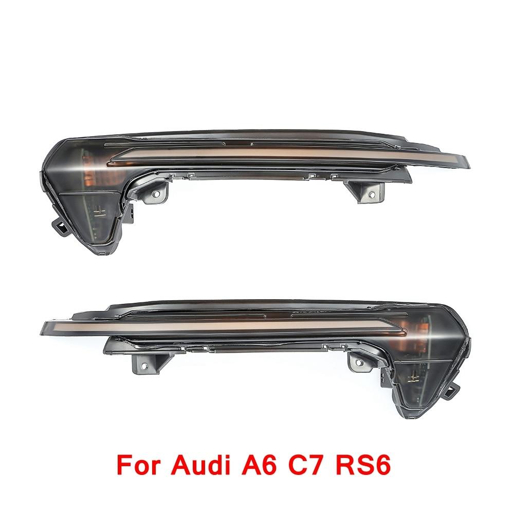 2 шт. течет вода свет динамический светодио дный указатель поворота крыло индикатор для зеркала для Audi Q5 Q7 A3 A6 C6 для VW Golf 7
