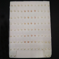 5 6mm Natural Fashion Button Pearl Stud Earring,Sold By Set