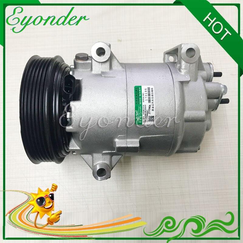 Air Conditioning Compressor AC AC Cooling Pump PV6 for Nissan DUALIS J10 JJ10 ALMERA N16 1.5 K9K 1139026 7711135105 8200940837