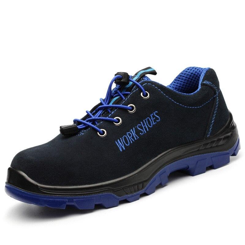 Trabalho Tamanho Dos Grande Azul Botas E Segurança Prova Sapatos azul De Céu Quebra Aço Punção Baotou Anti Homens xzqqHP