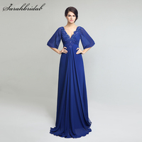 Royal Blue Vintage Mother Of The Bride Dresses 2017 With A Line 1 2 Sleeve Floor