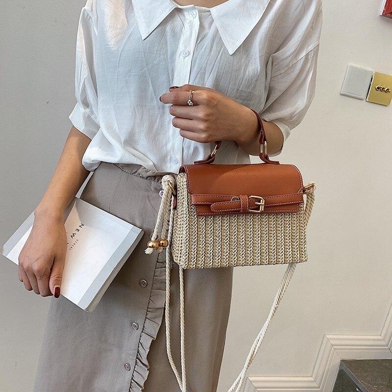 Summer Straw Beach Bags For Women 2019 New Quality PU Leather Women's Designer Handbag Bohemian Travel Shoulder Crossbody Bags