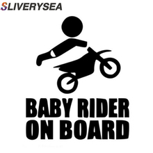 SLIVERYSEA Baby Dirtbike Sticker Dirt Bike Motocross Stunts Motorcycle Paddles Car Stickers And Decals Black/White #B1300