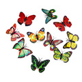 Beautiful Cute Butterfly Colorful Changing Colors LED Night Light Push Lamp Wall Lights Home Deocration Car LED Bulbs AIHOME
