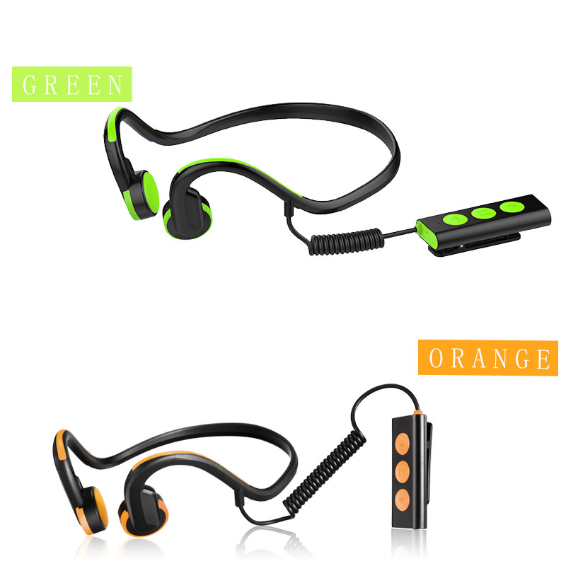цена на Bone Conduction Headset Wired Earphone Outdoor Sports Headphones Noise Running Bicycle Bone Conduction Headset Stereo Phones mic