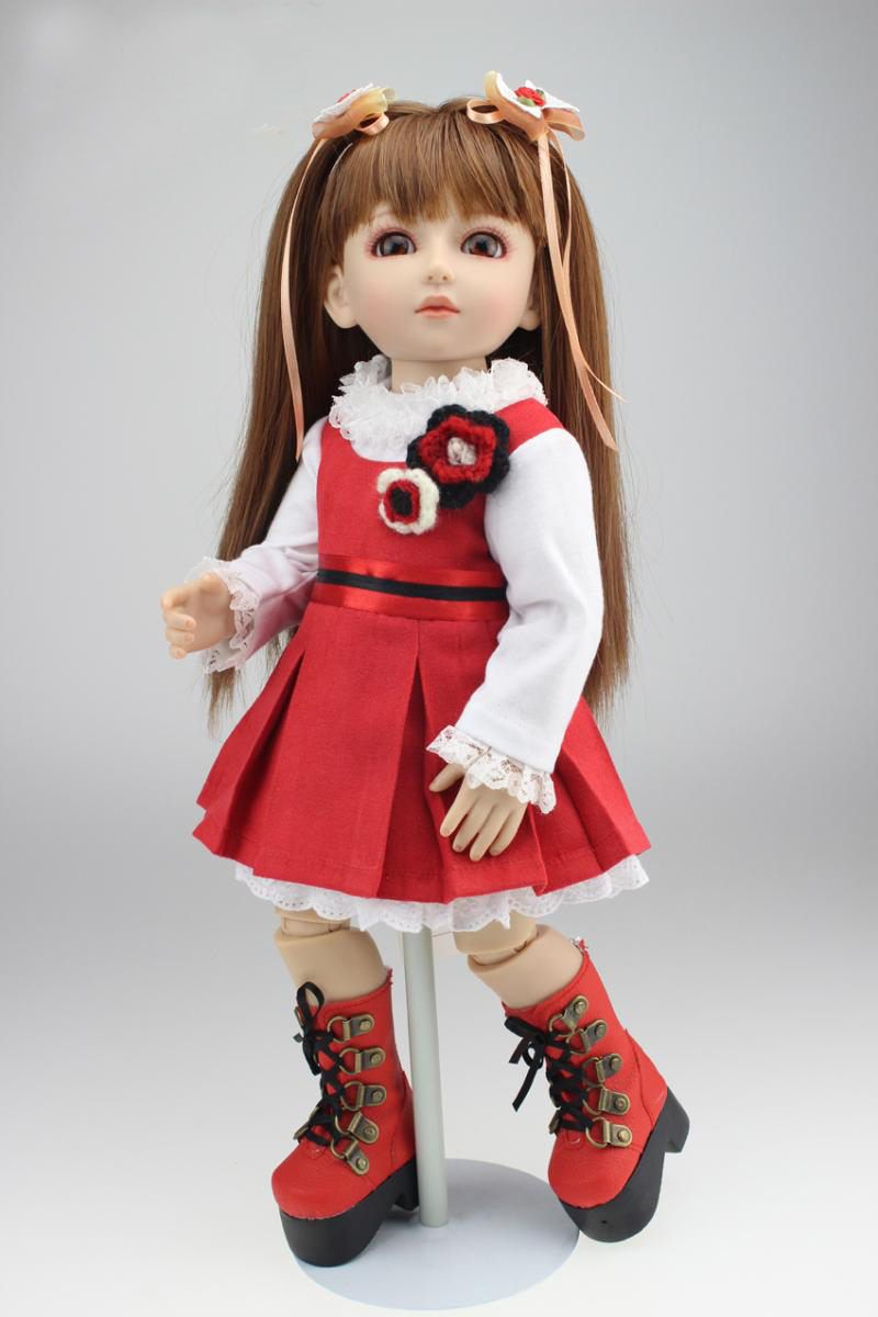 <font><b>BJD</b></font> doll SD doll jointed doll 1/4 45cm princess girl dolls reborn with <font><b>clothing</b></font> children gift image