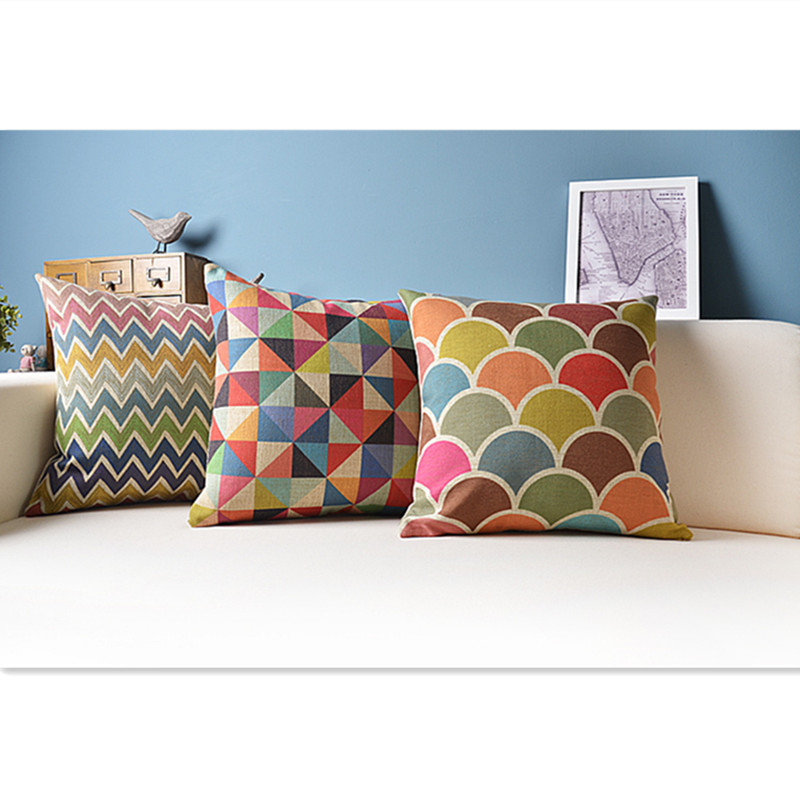 Geometric cushion decorative pillows colorful cushions home decor capa para almofada cojines - Enhance your home decor with fancy cushions ...