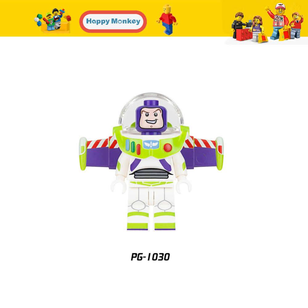 Figuras quentes série buzz lightyear banana cara blocos de construção senhora liberdade homem gengibre compatível legoingly brinquedos criança zk30