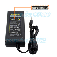 12v 3a Power Adapter Free Shipping 1pcs 100 New Certified Desktop AC 100 240V To 12