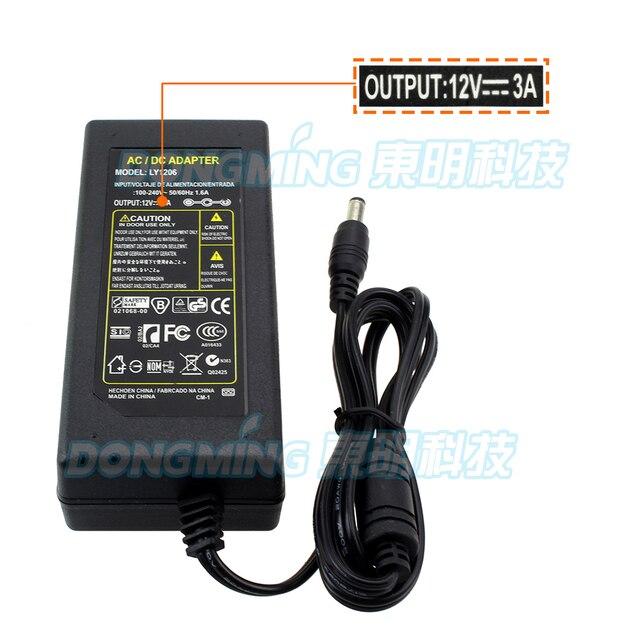 12 v 3a adapter Gratis Verzending 1 stks 100% nieuwe gecertificeerd desktop AC 100-240 V 12 volt transformator 36 W blok power converter