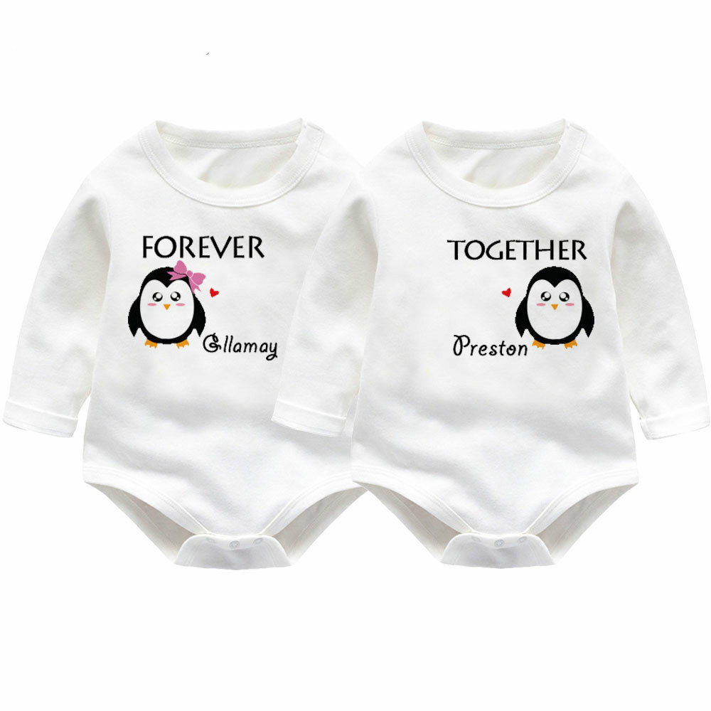 Twins Baby Rompers Winter Baby Boys Girl Clothing Newborn Baby Clothes Roupas Bebe Long Sleeve Baby Girl Clothes Infant Jumpsuit summer 2017 navy baby boys rompers infant sailor suit jumpsuit roupas meninos body ropa bebe romper newborn baby boy clothes