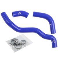 Motorbike Engine Blue Tube For SUZUKI DRZ400S DRZ400 DRZ400SM Silicone Blue Radiator Hose Kit 2002 2013