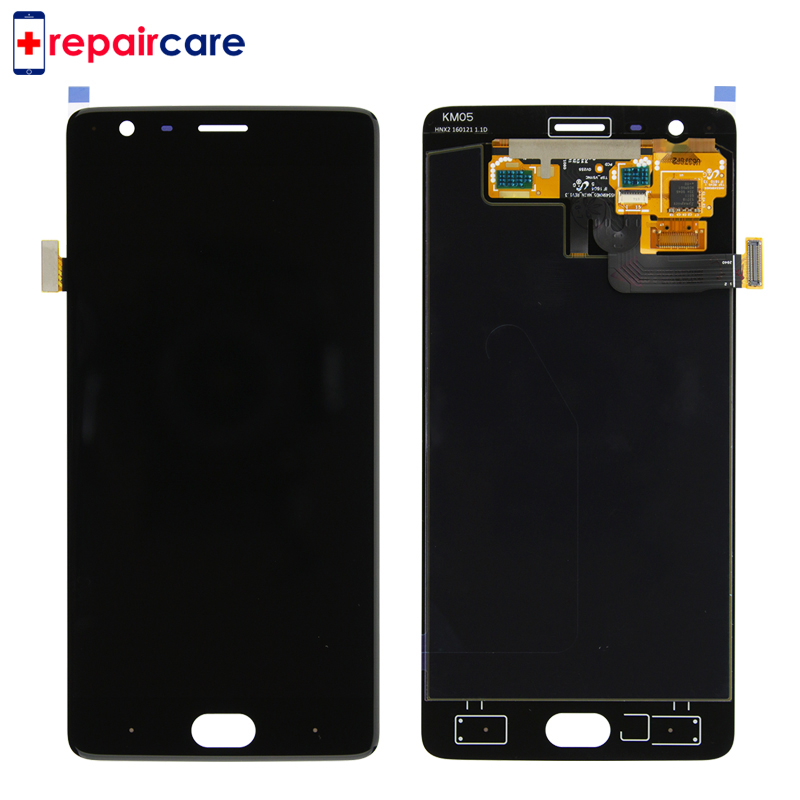 10PCS Free DHL Amoled For Oneplus 3T A3010 LCD screen Display+Touch panel Digitizer with frame Black/White