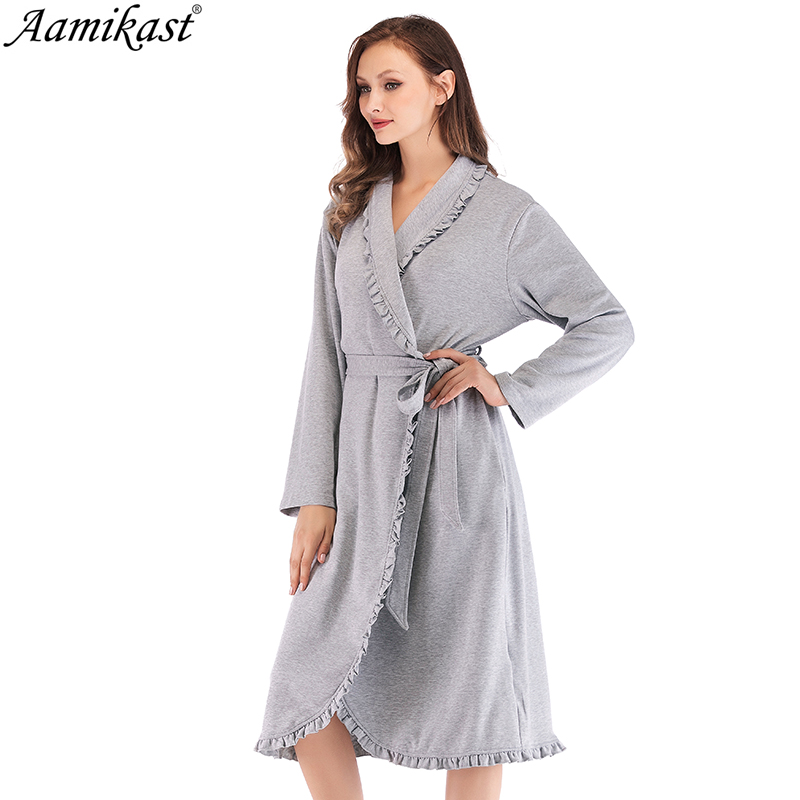 100% QualitäT Herbst Winter Frauen V-ausschnitt Mutterschaft Pflege Nachtwäsche Nachthemd Patchwork Nachthemd Schlaf Kleid Plus Größe Weibliche Nighti