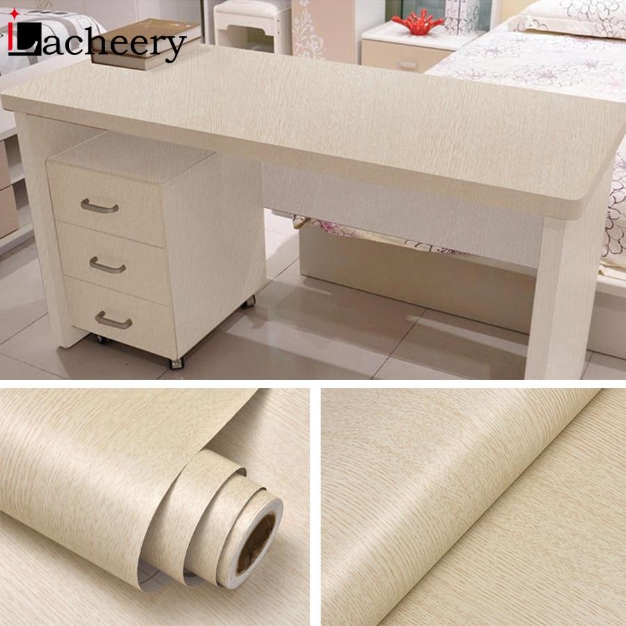 1M/2M Waterproof Wood Vinyl Wallpaper Roll Self Adhesive Contact Paper Doors Cabinet Desktop Modern Furniture Decorative Sticker 5