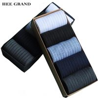 HEE GRAND 2017 New Arrival Fashion Men S Sock Bamboo Fiber Cotton Material Comfortable Breathable Socks