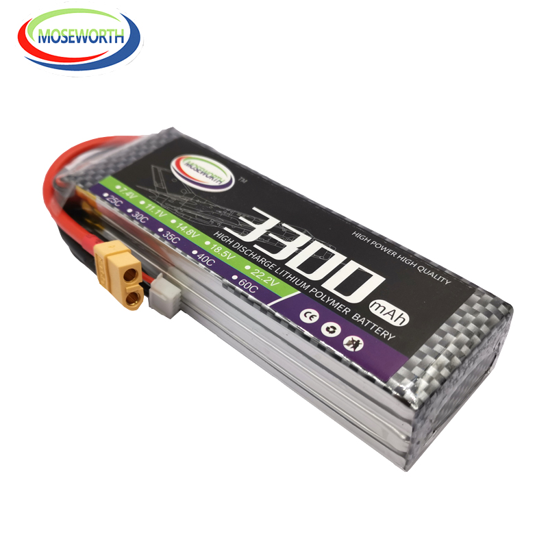 <font><b>4S</b></font> RC LiPo Battery 14.8V <font><b>3300mAh</b></font> 25C For RC Helicopter RC Car RC Boat Quadcopter Drone Li-Polymer Batteries RC Toys LiPo <font><b>4S</b></font> AKKU image