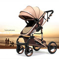High Landscape can Sit and Lie Down Children Stroller Four Wheels Fold Poussette Baby Stroller Pram for Infant Toddler Carriage